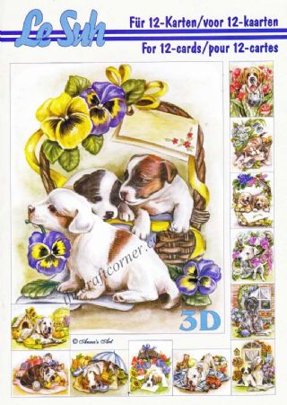 Dogs A5 3D Decoupage Book By Le Suh